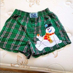 Men's Frosty the Snowman Boxers Size S
